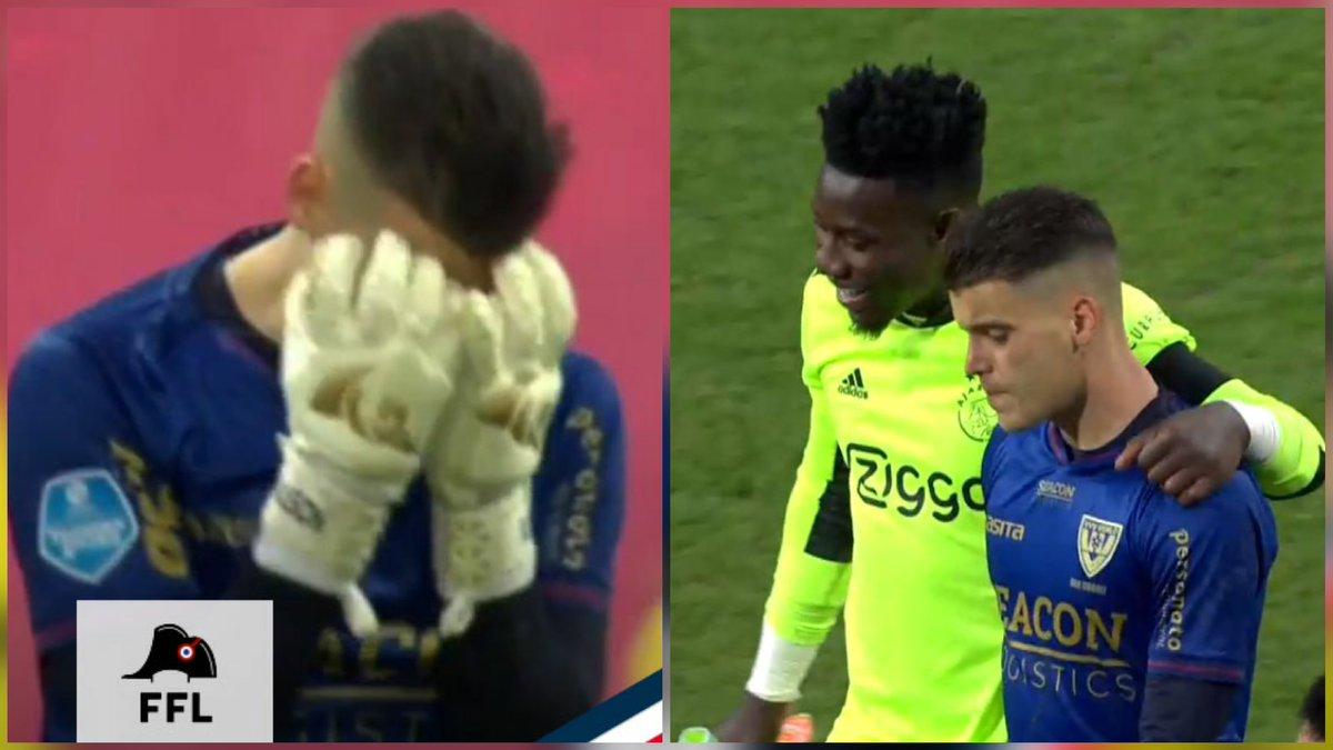 """Daguito Valdés on Twitter: """"DELANO VAN CROOY no pudo evitar las lágrimas  tras la histórica goleada (0-13) que su equipo, el VVV-Venlo, recibió del  Ajax. André Onana, antes de festejar el triunfo,"""