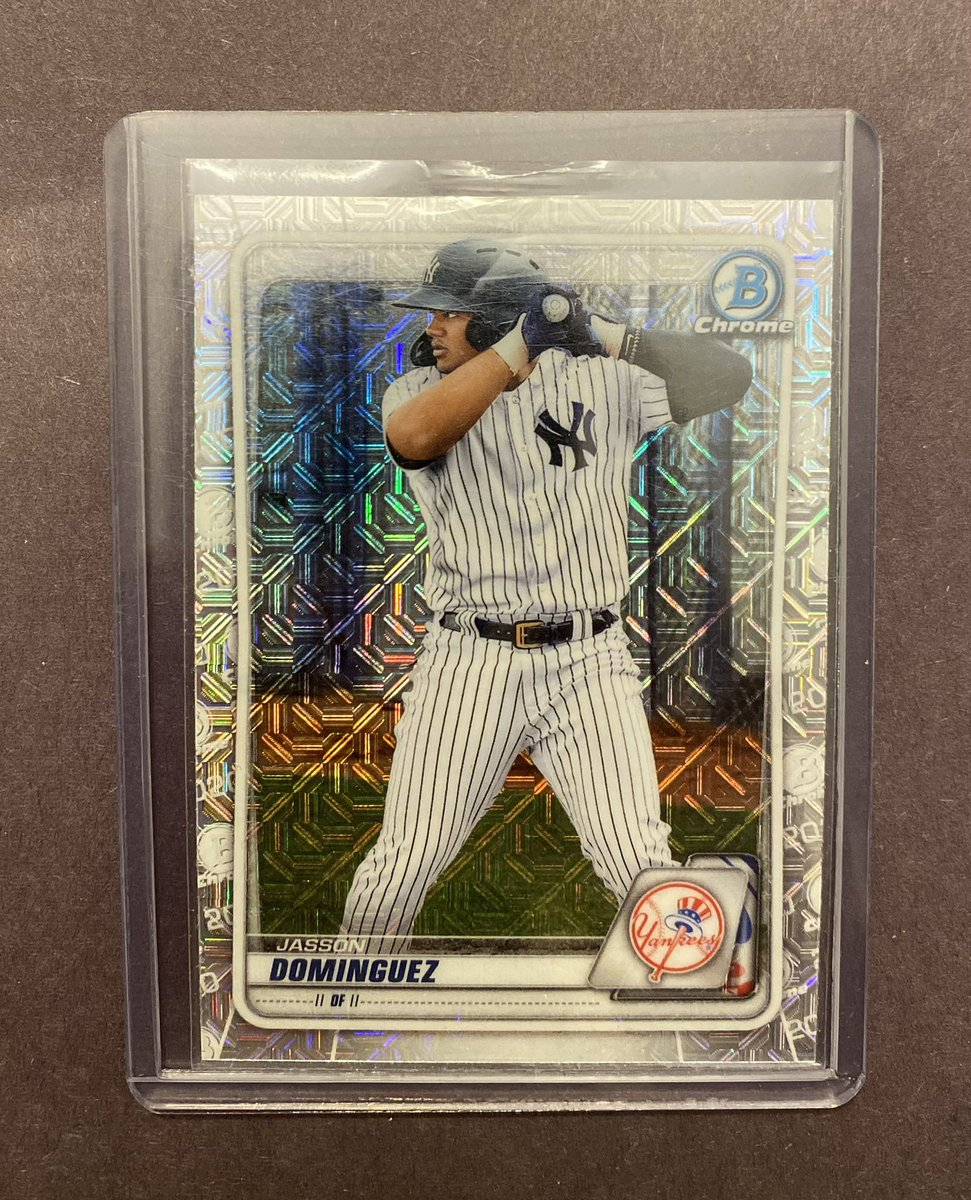 2020 Bowman Chrome Prospects Jasson Dominguez #BCP-243 RC Mojo Refractor  👉 $21.50 bmwt  @HiveCards @HobbyConnector @Hobby_Connect @mlbhobbyconnect @DailySportcards @sports_sell #tradingcards #collect #thehobby #hobbybst #nyyforny #newyork #yankees #yankeestwitter #postseason https://t.co/JnIeaDhETv
