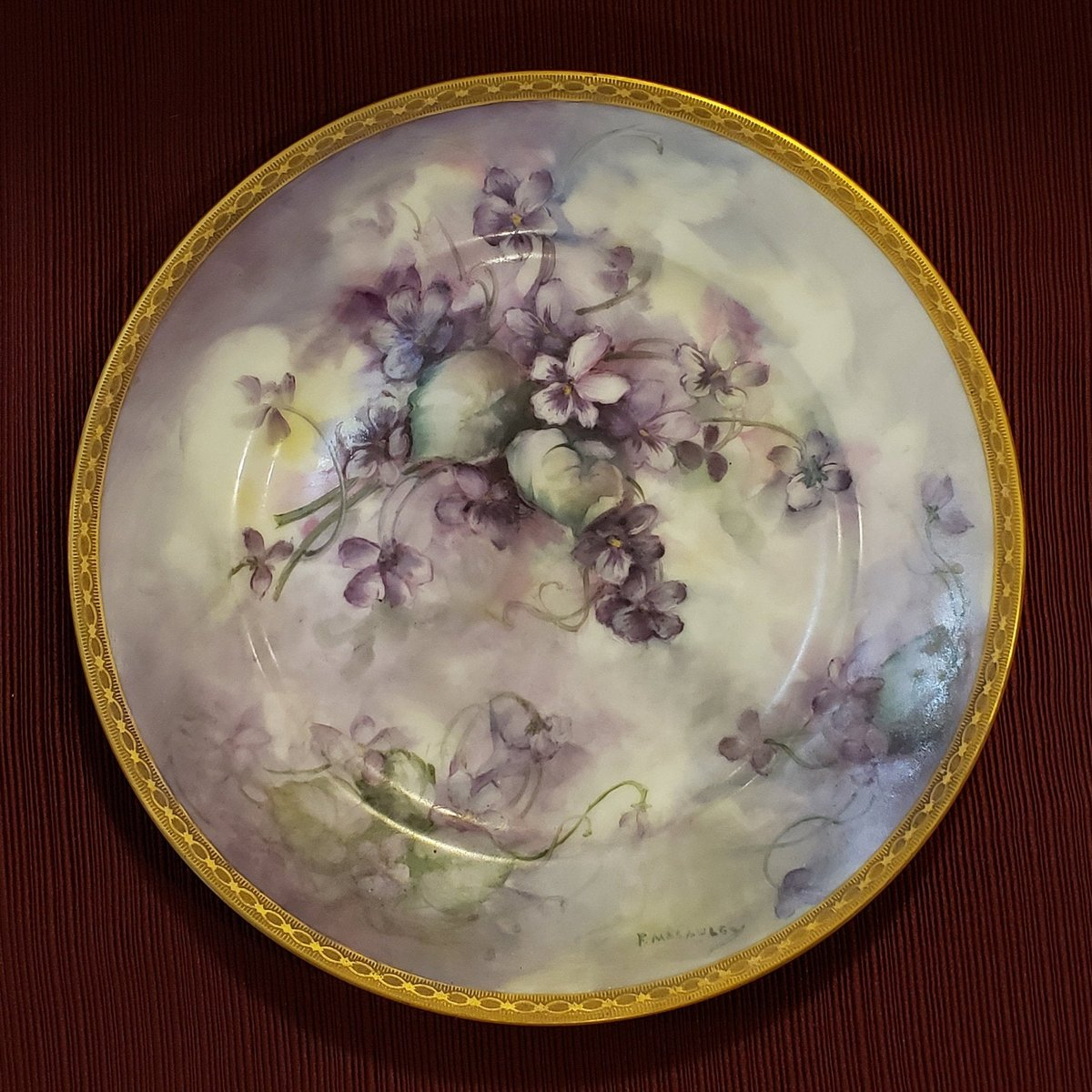 Vintage Theodore Haviland Limoges Purple Flower Decorative Plate With Patterned Gold Band That Was Made In France and Designed by F Macawley https://t.co/iWTlFpvjgR #AtticEsoterica #Etsy #Collectibles #Antiques #Vintage #DecorativePlate https://t.co/iFo7weGLoP