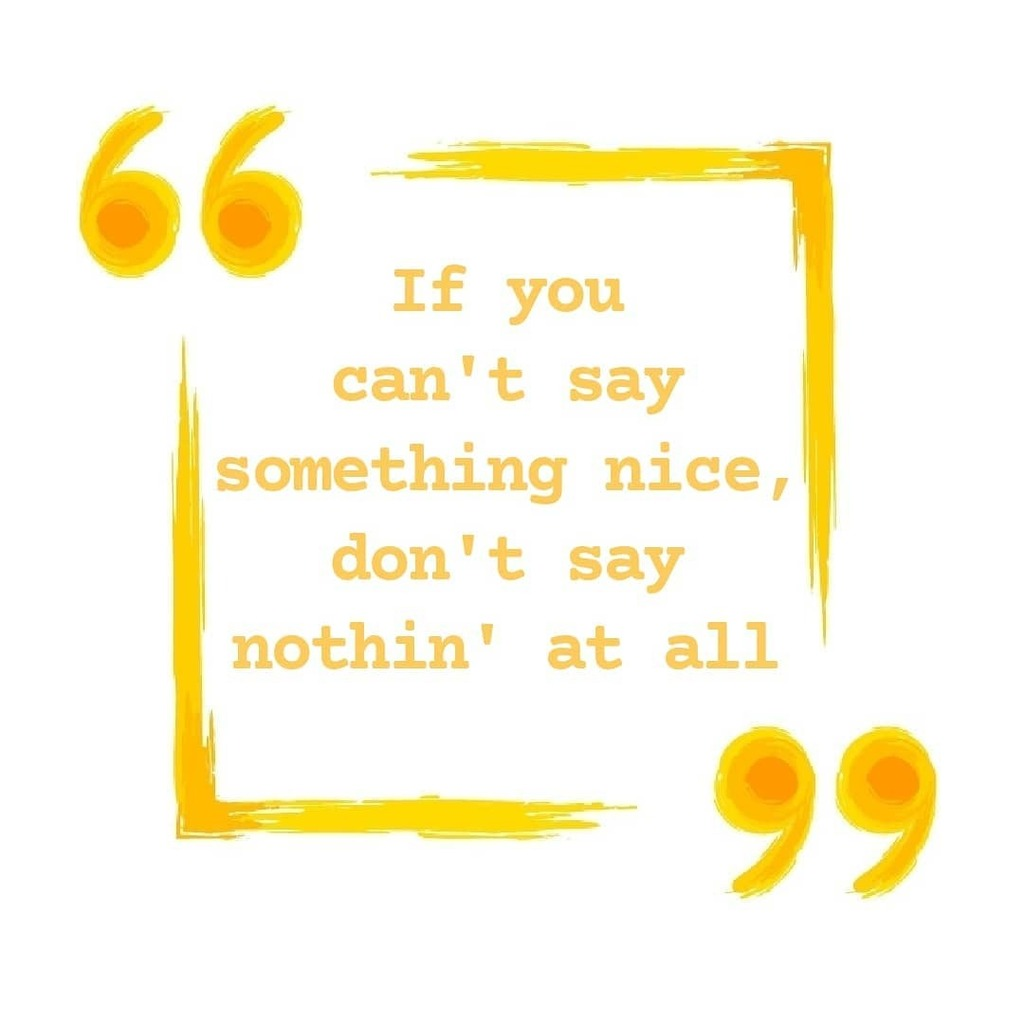 """""""If you can't say something nice, don't say nothin' at all.""""   Thumper,  Bambi . . . . . #vidyasury #lifequotes #lifelessons #inspiringquotes #qotd #wordsofwisdom #motivationalquotes #dailyquotes #cartoons #quotestagram #quotesofinstagram #positivevibes … https://t.co/dfJRIEu5az https://t.co/BInbkkc0dR"""