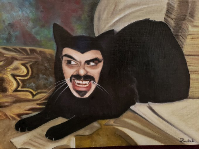 🦇🖤🦇 @AJemaineClement  #whatwedointheshadows my sister painted this https://t.co/PyHsRdVM9k