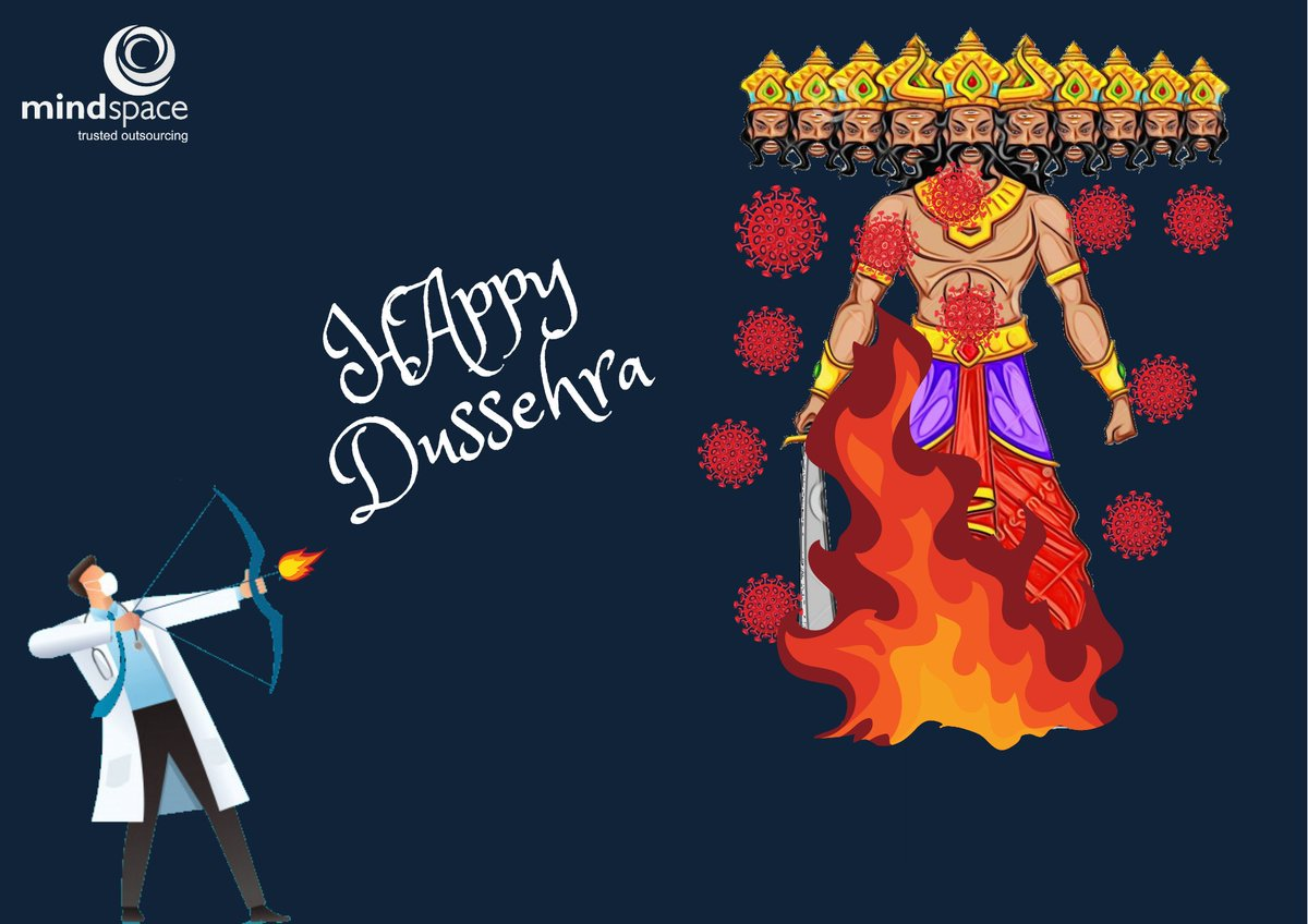 Mindspace  wishes a Happy Dussehra.  #dussehra #mindspace #coronawarriors #accounting #bookkeeping #COVID-19 https://t.co/0zblZvswhU
