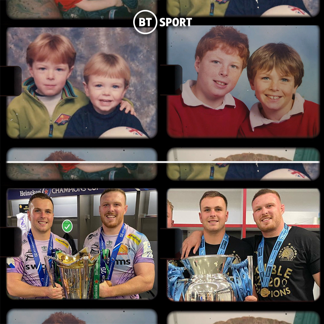 test Twitter Media - There for each other since the start...  How good is it to see Sam and Joe Simmonds shining through @ExeterChiefs recent success?! 🙏 https://t.co/2JkjFwHgJT