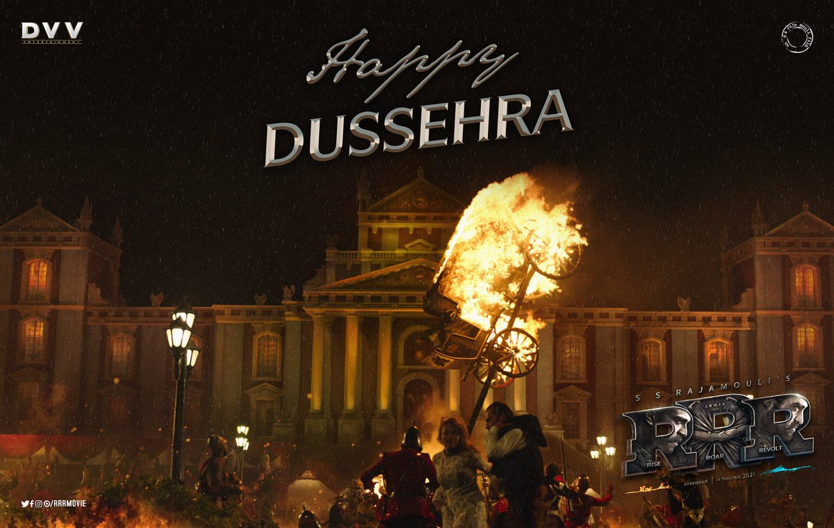 May the warmth of fire and the strength of water engulf all evil!  #HappyDussehra 🔥🌊 #RRRMovie