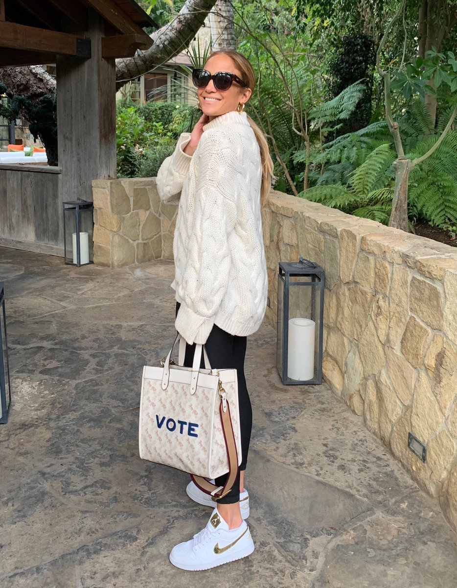 RT @JLo: Voting is always in style ✨ @Coach #MyCoconuts https://t.co/tWoTb88iZZ