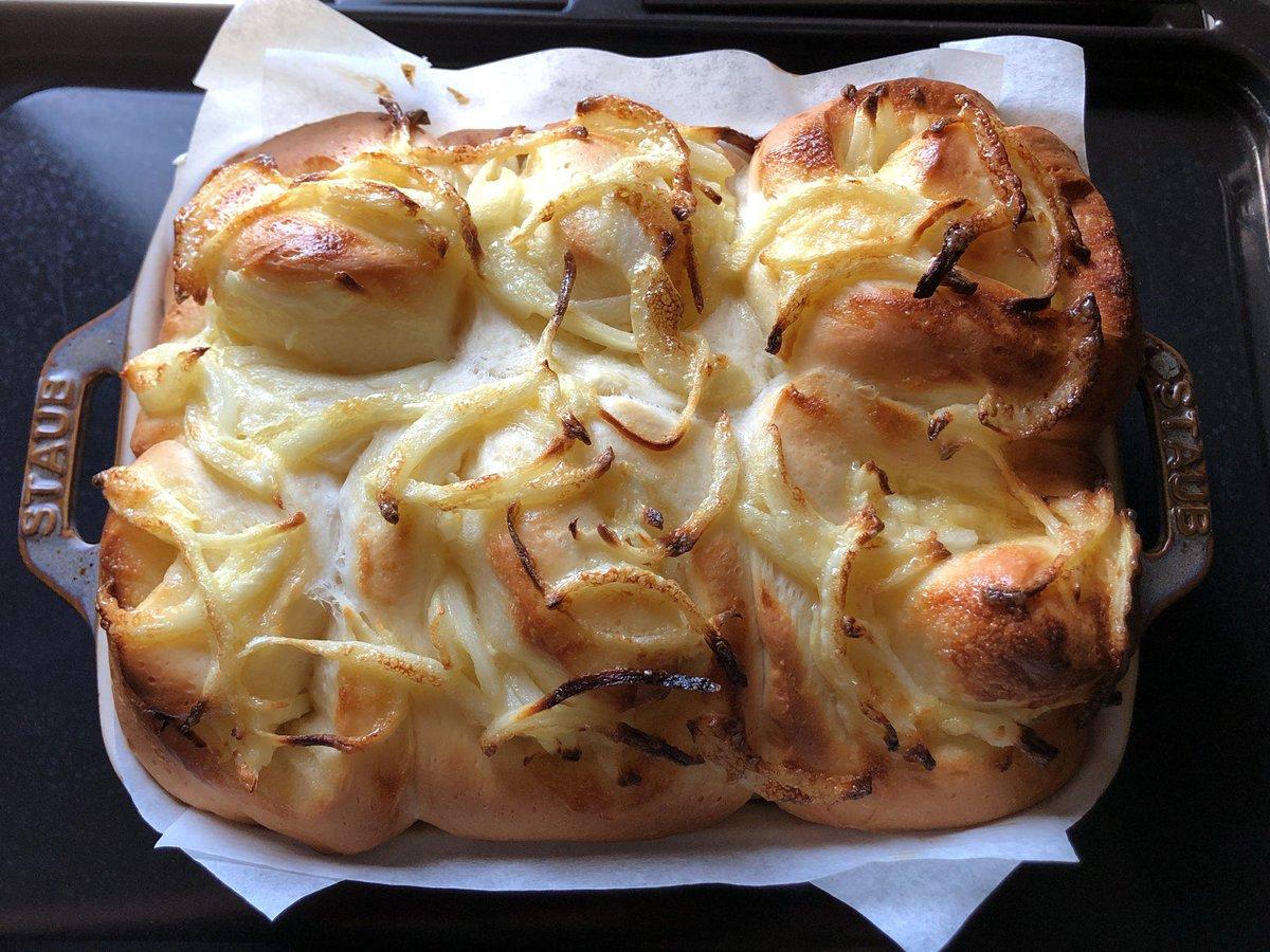 オニオンブレッド焼けましたパン屋さんのいい匂いするw#パン作り #手作りパン