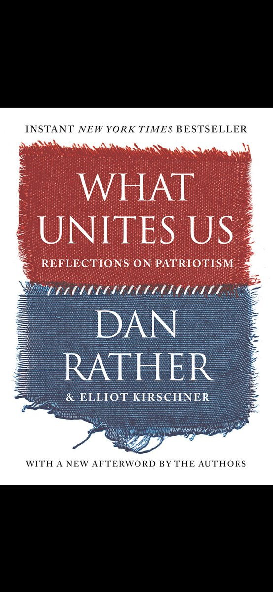 Just bought this book. Can't wait to read this. @DanRather #WhatUnitesUs