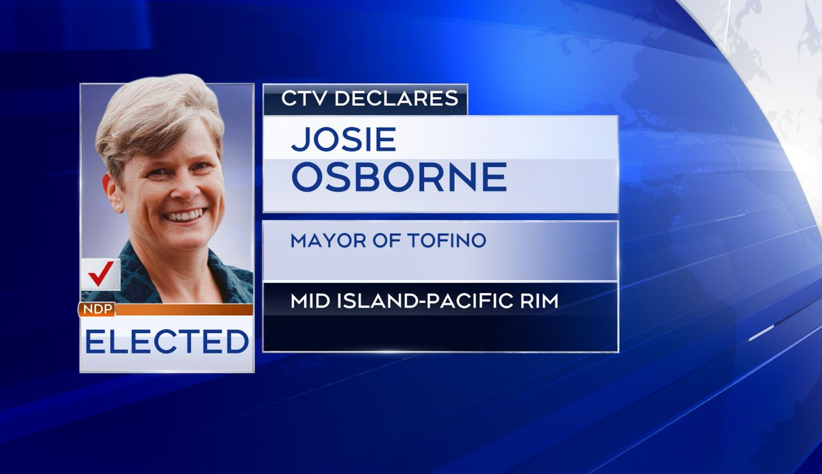 CTV News declares Josie Osborne elected as MLA for Mid Island-Pacific Rim  https://t.co/UhokzetSep https://t.co/AbisEh0YR3