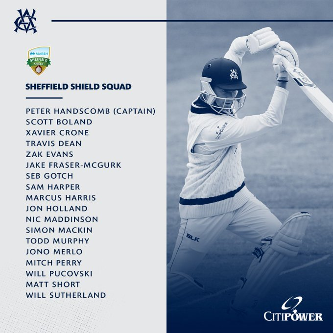 Congrats to the 6 former @APS_Sport Rep Cricketers who have been selected in the Vic Cricket team squad for the upcoming #SheffieldShield opener later this month!  Well done & good luck Guys! 💪  #apssport #APS #apscricket #schoolsport #unitedcoloursoftheaps #leaders #apsrepsport https://t.co/eaAYMvpwYS