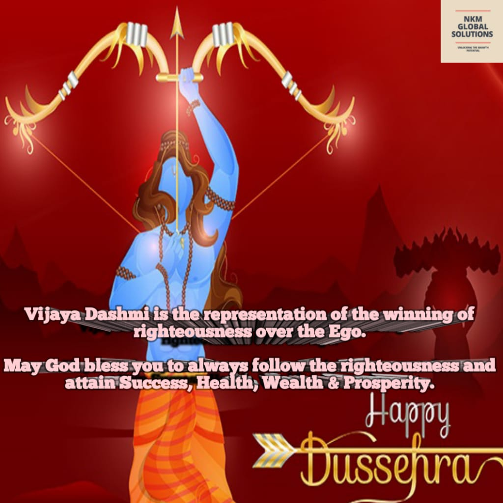 Vijaya Dashmi is the symbol of the victory of Righteousness over the EGO. Ram with righteousness and Raavan with EGO. And what happened is the history. No matter how big the EGO is ,it has to submit to the Righteousness.  Happy Vijayadashami to all of you. 🙏  #happydussehra2020 https://t.co/pFsepA6FIZ