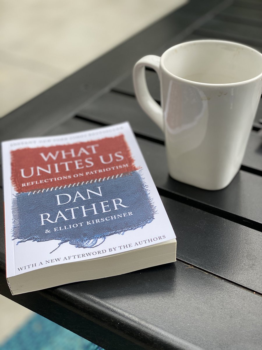 For some reason, my earlier post of my love for this beautiful book was flagged by the Twitter police. All I can say is how lovely I find the words of @DanRather. I'm hopeful. I feel peace. Thank you sir for your comforting prose. #WhatUnitesUs