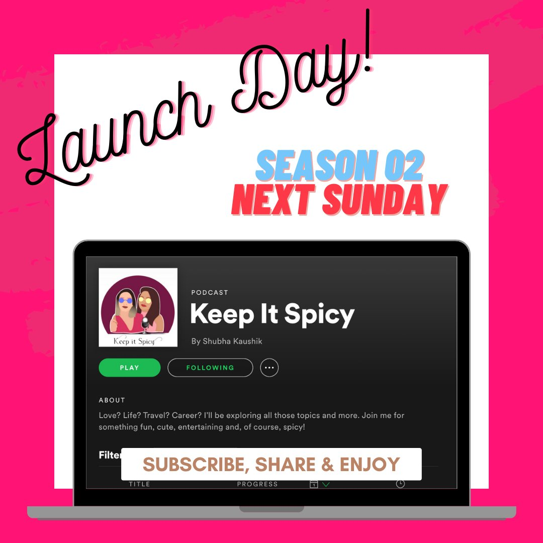 JOIN US next Sunday for our first #KeepItSpicy podcast episode of SZN 2 with a brand new guest - all the way from South Korea 🛫Listen as she shares how to take risks during the pandemic & being bold when traveling solo! #spotifypodcasts #applepodcasts #podcast #podcastcreators https://t.co/Kgq58rPIyB