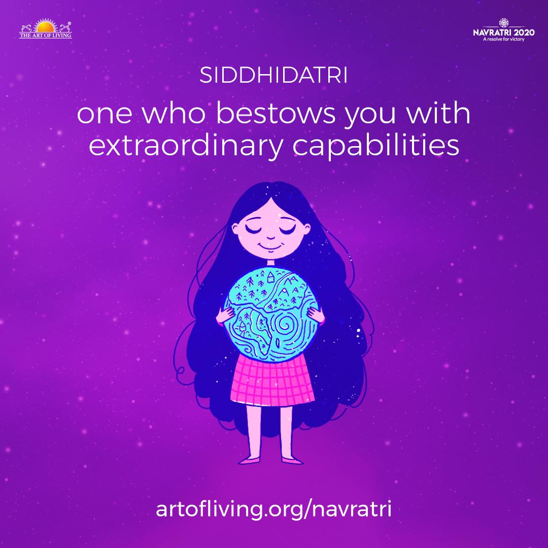 Share this with someone who brings out the best in you ❤️  On the ninth day of Navratri, Goddess Durga is worshipped as Siddhidatri.  This form of the Mother Divine blesses you with Siddhis (extraordinary capabilities) so that you do everything with perfection.  #Navratri2020 https://t.co/snaW5hmkfn