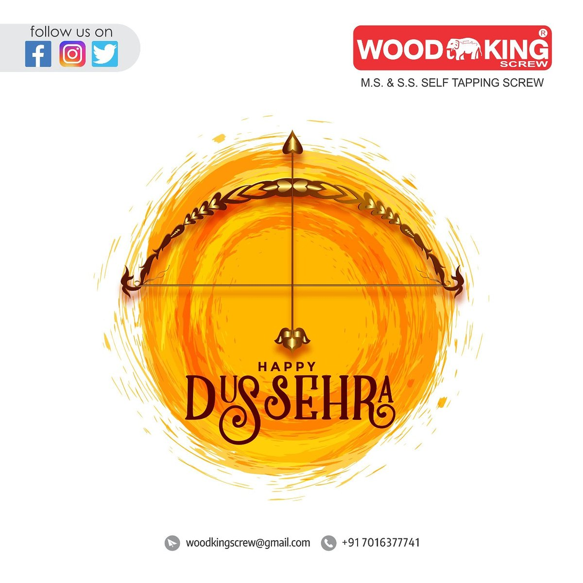 Today we Pray that Lord Rama shower the happiness and success on you. . . . #dussehra #navratri #festival #dussehraspecial #happydussehra #celebration #ravan #postivity #negativity #dussehragreetings #evil #pooja #dusshera #dussehravibes #victory #woodkingscrew #india #screw https://t.co/hchmcYXQGc