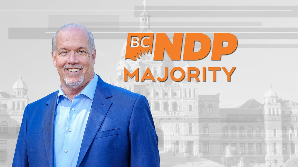 CTV News is projecting an NDP majority government in B.C.  https://t.co/6cnLvwYCvp https://t.co/Zlg28Sa1PW