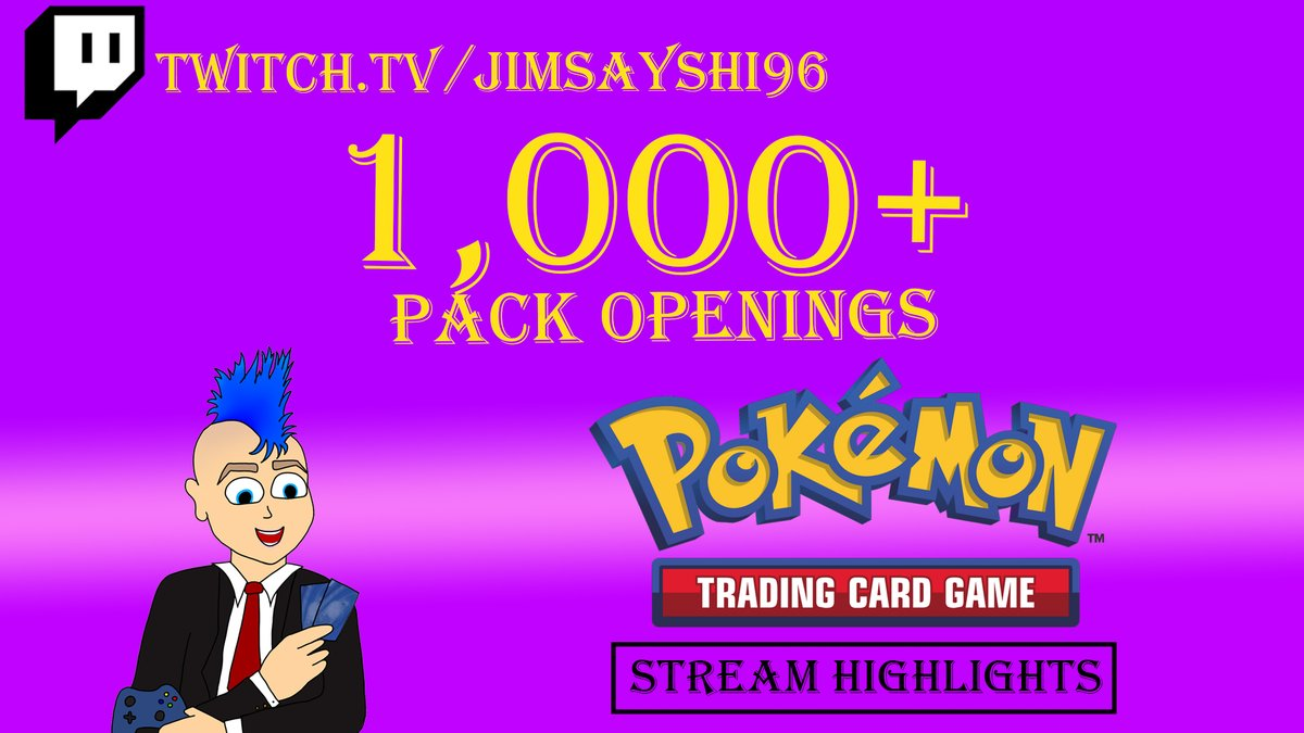 Hey Guys! I created a Highlight Video for my 1000+ Pack Opening Livestream, Check it out below; https://t.co/l4W1nYPbHt  #Jimsayshi96 #Livestream #Twitch #Follow #Subscribe #YouTube #1000Packs #Pokemon #BoosterPacks #Huge #Highlights https://t.co/Nh1YEf6ftQ