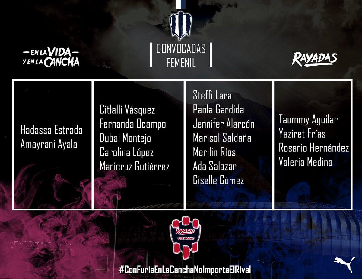 🚨 Las Elegidas 🚨  🤠 Te dejamos la lista con las que Rayadas  Viajara a Lerdo de Tejada, Ver. para enfrentar a Diablitas de Lerdo... Exito Albiazules Por los 3 puntos🔵⚪  #EnLaVidayEnLaCancha  #ConFuriaEnLaCanchaNoImportaElRival  #YaGanamos 🔵⚪ 🏆 https://t.co/ZOneUsZP3F