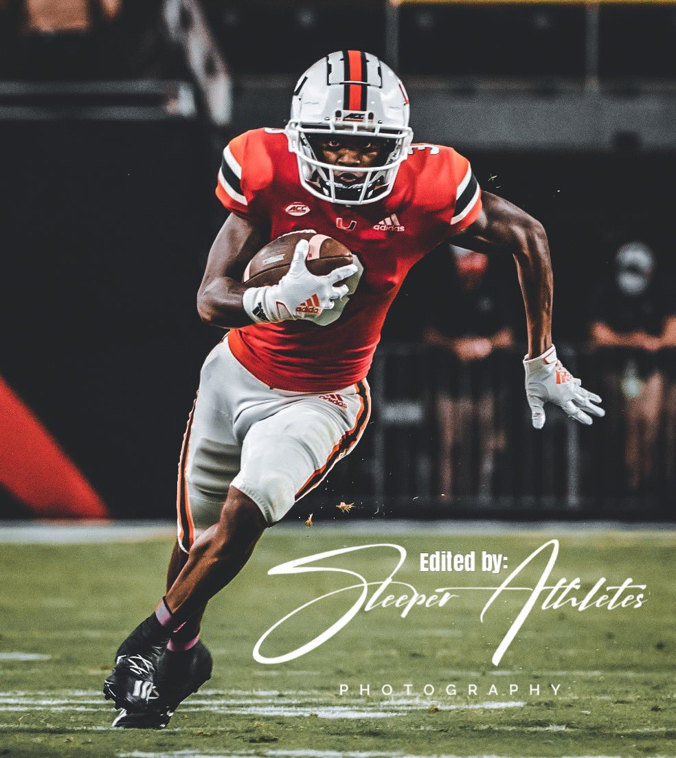 #StThomasAquinas HS (FL) alum & #Miami #Hurricanes WR Mike Harley Jr. (@MikeHarleyjr) finishes with career highs in catches and yards with 10 for 170 yards & a TD vs #Virginia https://t.co/HALbtuKx6L