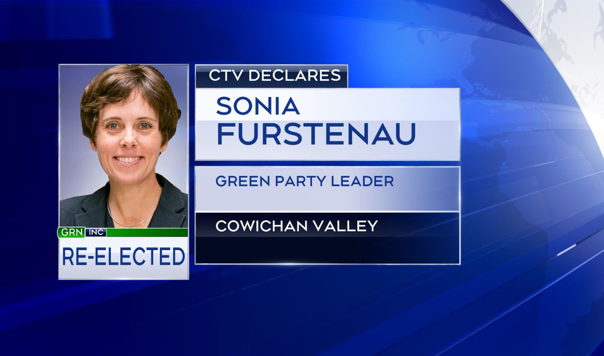 CTV News declares BC Green Leader Sonia Furstenau re-elected as MLA for Cowichan Valley.  https://t.co/UhokzetSep https://t.co/Bw5gf6qLhW