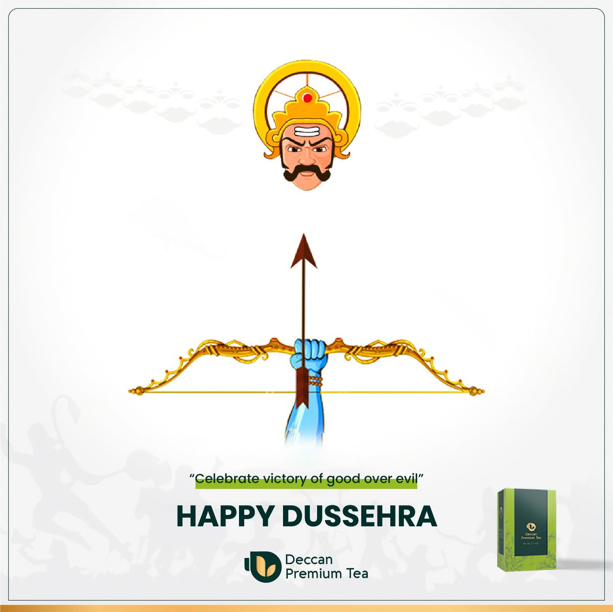 Let's celebrate the victory of the forces of Good over Evil. Deccan Premium Tea Wishes you a very Happy Dussehra!  #pune #dussehra #dussehra2020 #dussehraspecial #dussehracelebration #dussehrawishes #Mumbai #konkan #Maharashtra https://t.co/SJsG4yNoEt