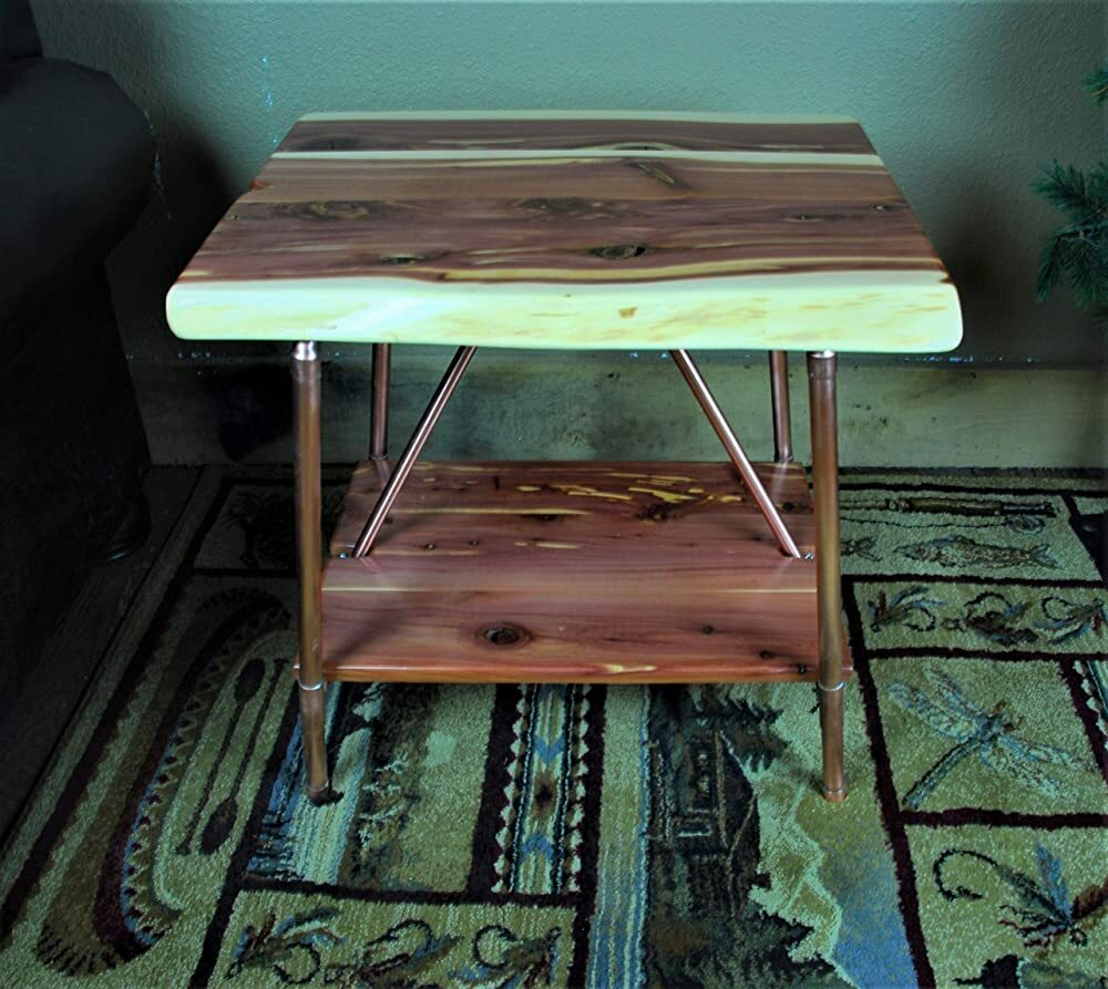 Niangua Furniture Live Edge Cedar Rustic End Table with Copper Pipes https://t.co/fsYH6CDYJ0 #gifts #giftideas #shopping #household #holiday #blackfriday #thanksgiving #cybermonday @amazon #amazon #primeday https://t.co/GgOwgwbzpL