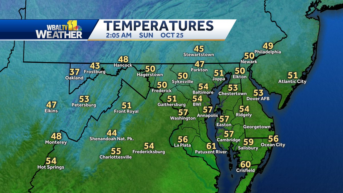 Here's a look at the current temperatures across #Maryland. https://t.co/lTxfhzaqsk