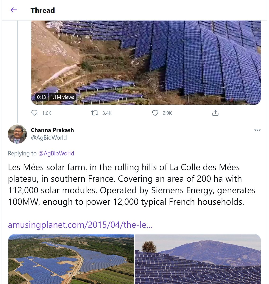 Appendix B: old mate AgBioWorld claims the Imgur video is Les Mees, but a friend has pointed out the video might actually be a very similar but less-nice-looking one? Obviously all the points still stand, but it's unclear which solar project this actually is.