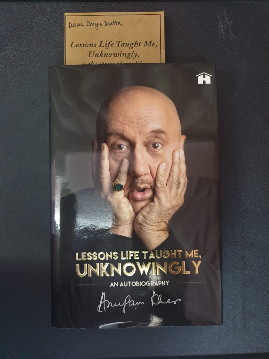 What a special gift on Dussehra!! Can't wait to read the lessons life taught you unknowingly.:))Lots to learn from u always. You always leave a smile telling life's experiences ! Hava super trip and a great shoot! And a biggg thankyou ⁦@AnupamPKher⁩ !! Lots of love.. https://t.co/JhQlQZCJPw