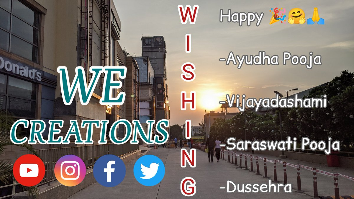 We Creations wishing you all a very happy #Ayudha/#Saraswati #Pooja, #Vijayadashami & #Dussehra! #ஆயுதபூஜை & #சரஸ்வதிபூஜை ! https://t.co/oYrn6WDF2L