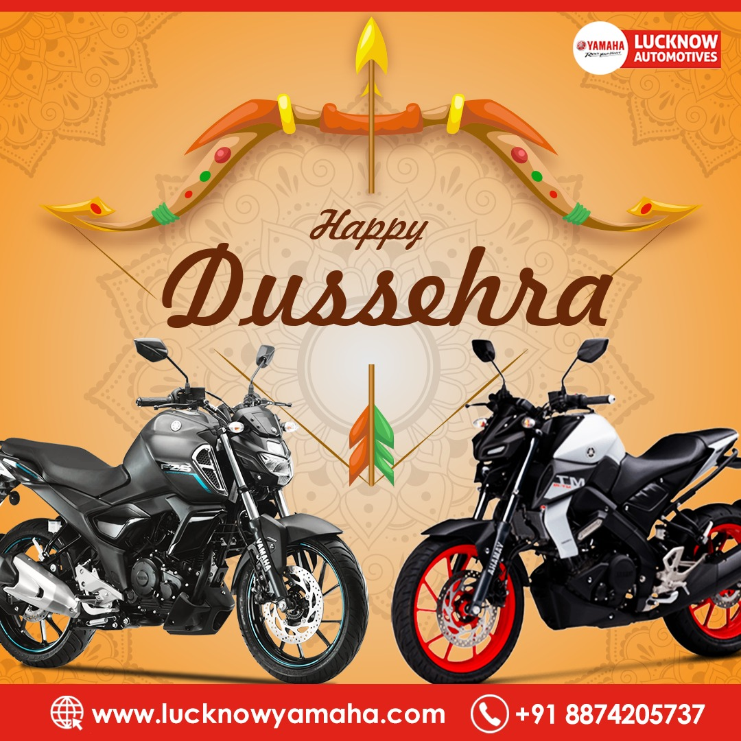 May Lord Ram Shower his choicest blessings over you and remove all evil obstacles from your life.  A very Happy Dussehra to you and your family.  Call now - +91 8874205737 #Lucknow #lucknowbikers #theridinghunter #superbike #SundayMotivation