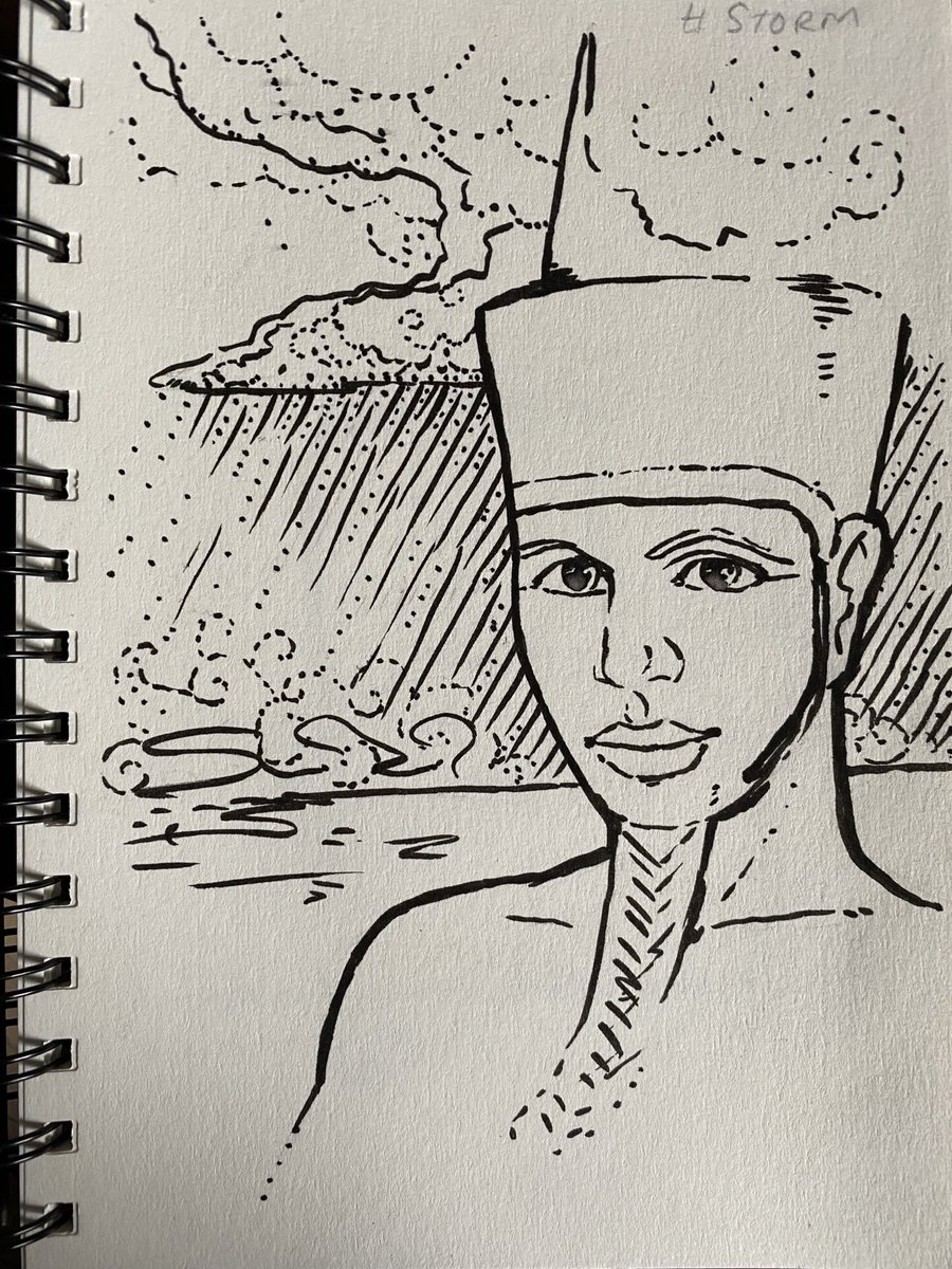 Day 17: Storm. I've already done Set for day 2: Wisp, so this time I give you Min! #inktober2020 #egyptology #ancientegypt #egypt https://t.co/NGw9BEnetO