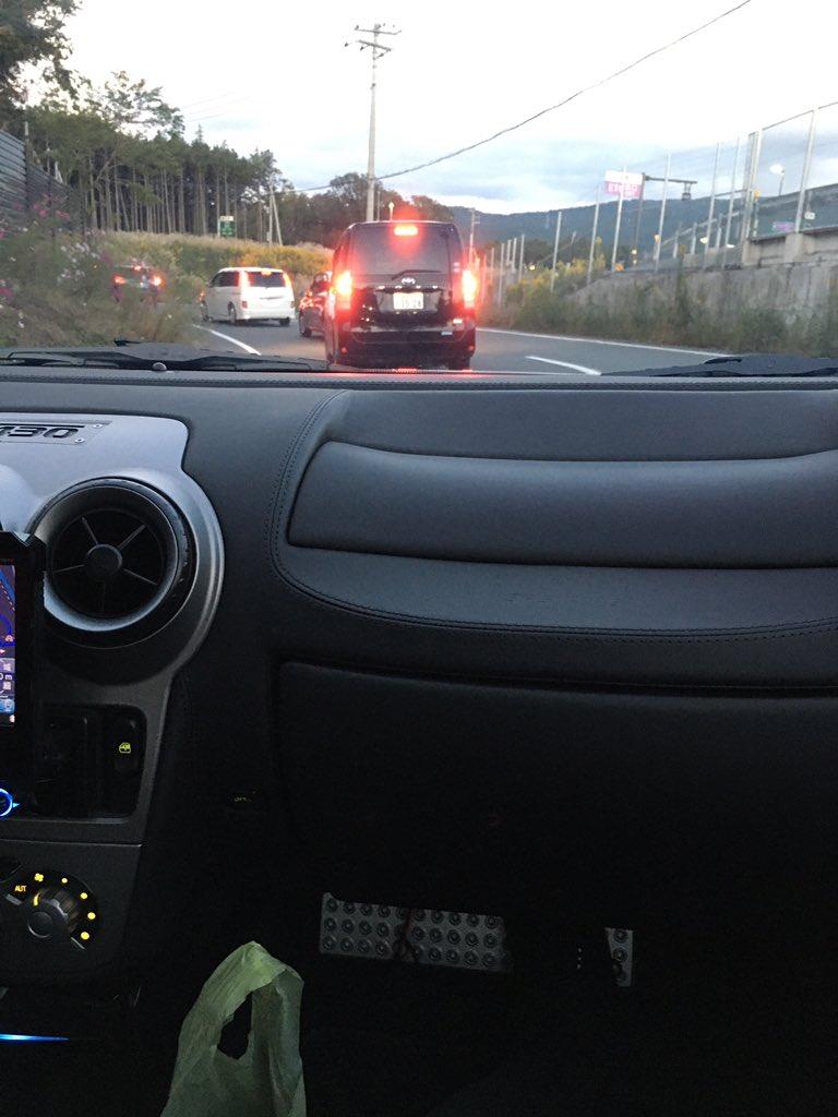 ただ今、高速に入れず渋滞中… エンジン大丈夫かなぁ? #Ferrari #FerrariF430 #足柄インター https://t.co/unRAaaZLHu
