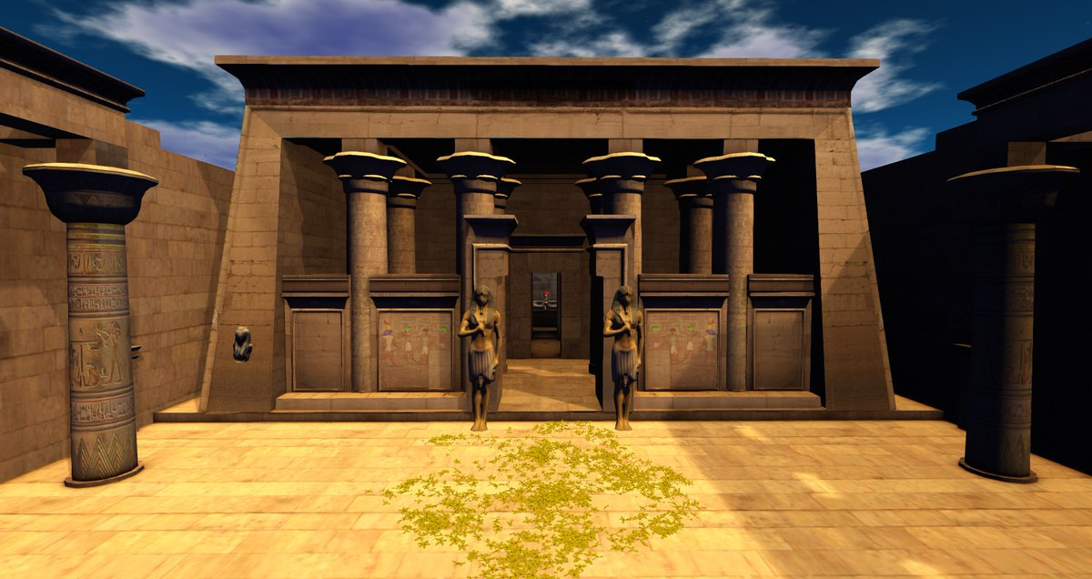 Virtual recreation of the city of #Alexandreia - #Alexandreia in 40 BC, in #SecondLife   Can you visit it? Yes. here: https://t.co/5qVwWmB8Mo  #Egypt #Recreation #Ancient #AncientEgypt #40CB #Cleopatra https://t.co/HKzvNEyadW