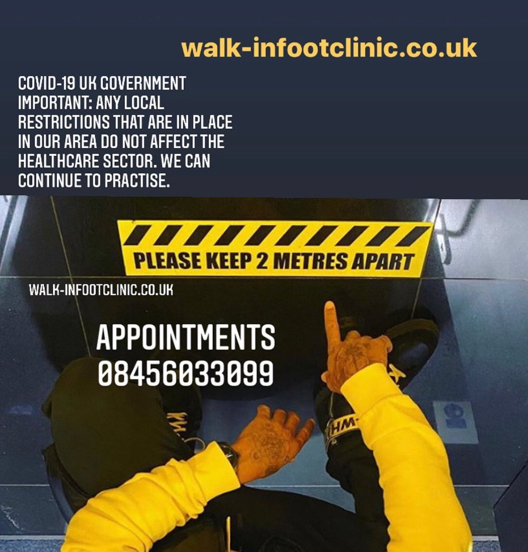 We are open. Call 08456033099. #COVID19 #feet #insoles #London https://t.co/ugWhK7jQQE