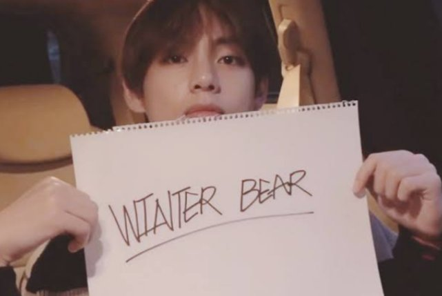 Imagine your face say hello to me. Then all the bad days there nothing to me with you.....WINTER BEAR. Kim Taehyung is my winter bear in fact he is all seasons bear to me 😍😍🐻🐻  #winterbear #BTS #Taehyung  @BTS_twt https://t.co/Ccyr2CUMcY