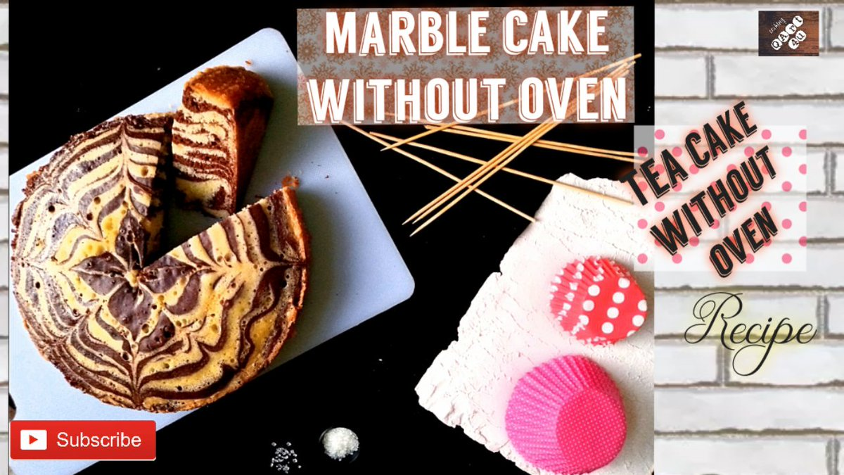 Marble cake/ Zebra cake without oven 🤪 recipe on my channel 👇  . #cake  #teatime  #InternationalCoffeeDay  #internationalartistday  #InternationalWomensDay  #baking  #chocolate  #chocolatecake
