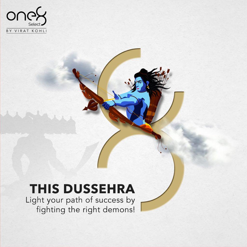 Wishing you all a very Happy Dussehra!! #one8  @one8world   #festive #festivepost #one8select #festival #dussehra #happydussehra #viratkohli #occassionpost