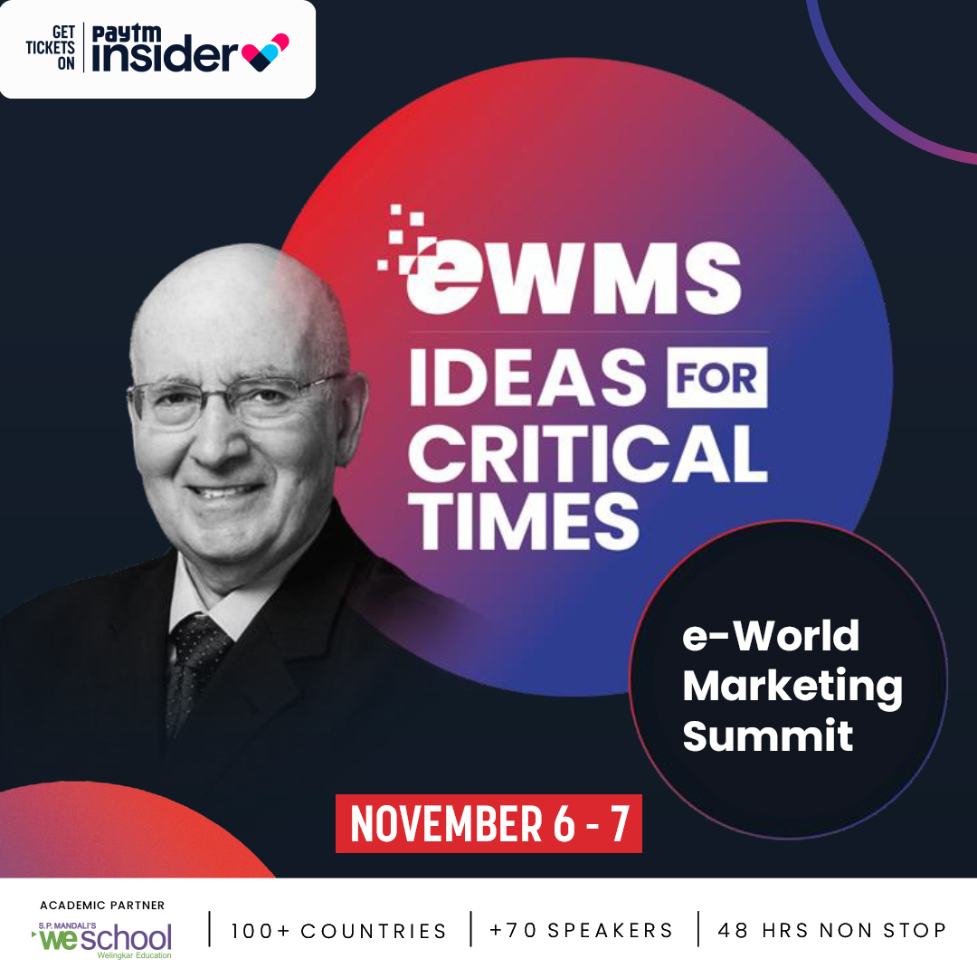 Tune into the E WORLD MARKETING SUMMIT - Ideas for a critical time, where the most influential personalities in the world will share their vision stories and strategies in the most relevant business areas. Tickets: https://t.co/NPlYwQJROB https://t.co/7MzhBGVhg6