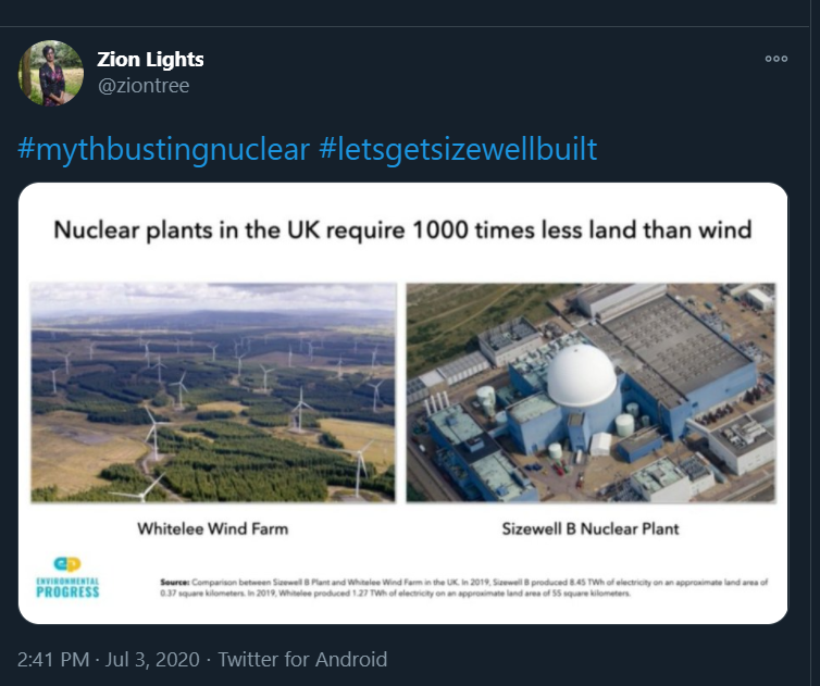 First of all: Shellenberger, and  @envprogress more generally, make a constant habit of using *proper* misinformation - half truths, bad sources, deceptions etc - to make their case. It is a constant thing.Eg: this graphic, which claims wind - 1000x land than nuclear: