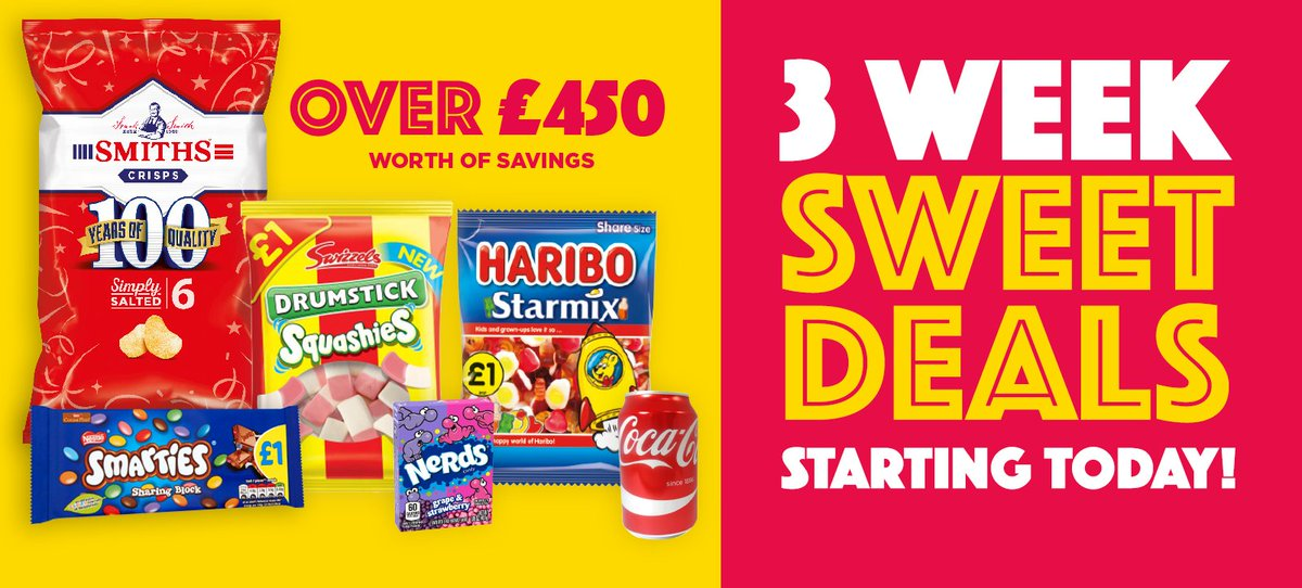 Our 3 Week Sweet Deals start today in-store and online! Available from 25th Oct - 13th November.  It's a bumper BIG VALUE issue with over £450 worth of saving and over 160 products to sell at £1!  Head down to your local Hancocks or shop the deals online: https://t.co/tulXDfjgIL https://t.co/ECPzkK99Mg