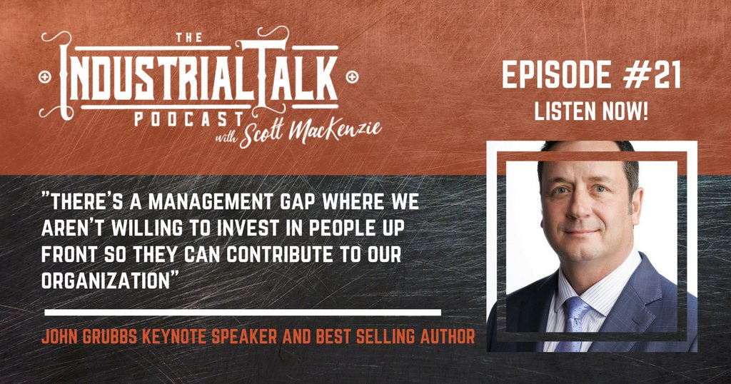 Listen to John Grubbs at https://t.co/qc6OpGOHul about the 3-questions companies need to know when managing through the millennial workforce. #podcasting #industrialtalk https://t.co/jvgnVjxuPG