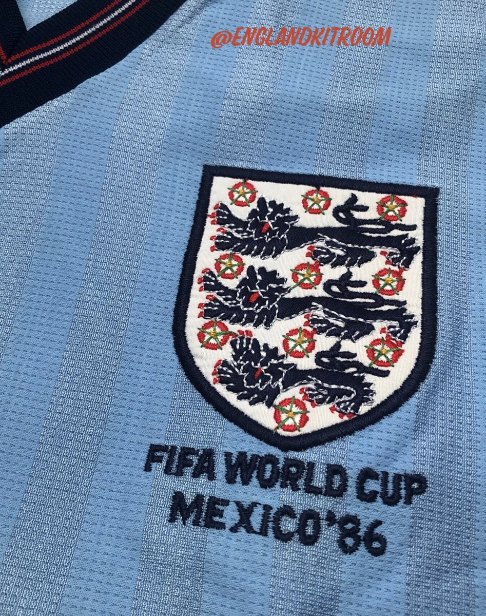 In my opinion one of @England best away kits, although...it was unused. A beautiful simple designed perforated polyester masterpiece that replaced the traditional Airtex cotton fabric. You may remember the socks and shorts did make an appearance in a controversial game in Mexico