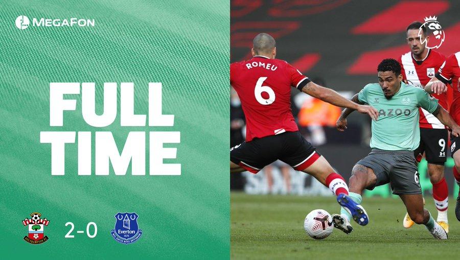 Everton battu à Southampton