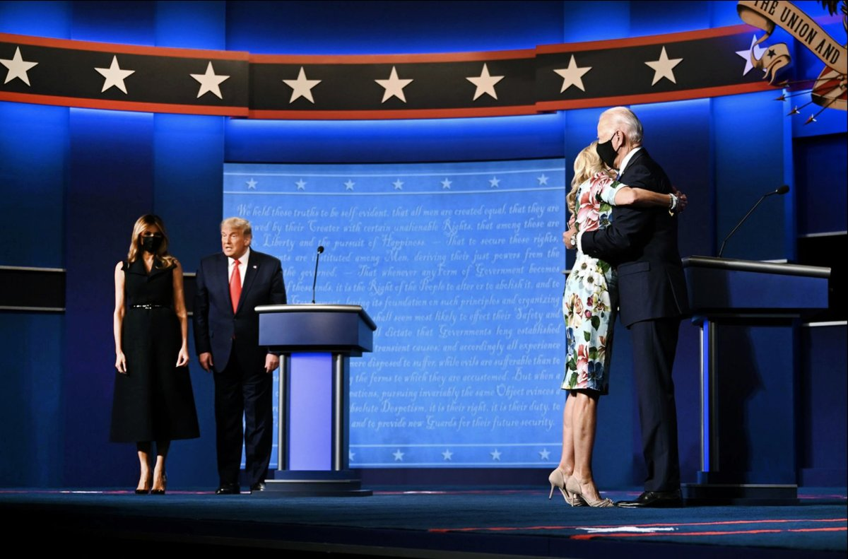Hands down best political picture of the year. Hats off to @JimWatson_AFP/@GettyImages for nailing this incredible moment. All you need to know about the Bidens and Trumps is here. The power of photography. @AFP