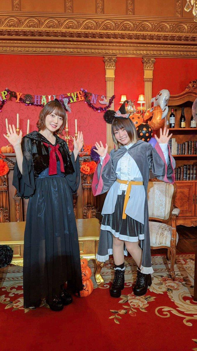 魔女の旅々ハロウィンパーティー観てくださった皆さまありがとうございました🎃楓ちゃんとみんなとパーティーできたので、もうハロウィンに悔いはない!魔女ドレスと目!#魔女ハロ#魔女の旅々#魔女の旅々はいいぞ