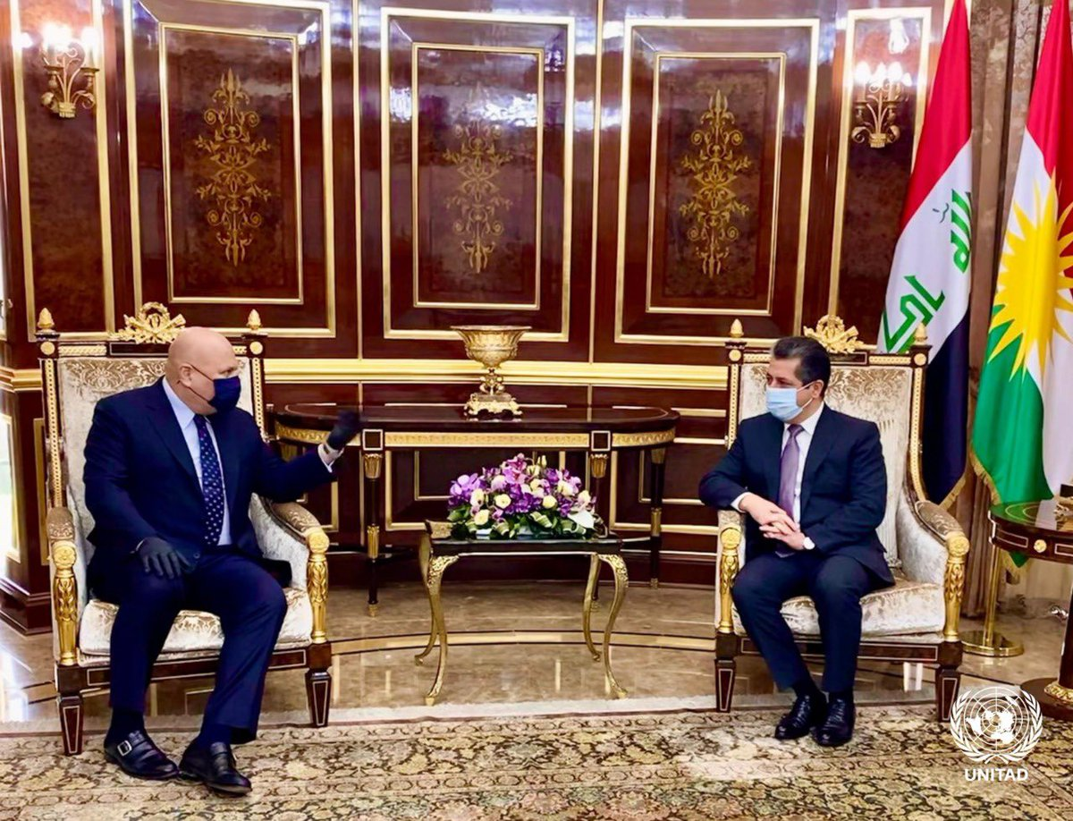 SA @KarimKhanQC met @Kurdistan PM @masrour_barzani to discuss ever closer cooperation in the joint quest to achieve accountability for #Daesh crimes. Discussions included options to better ensure the recognition & prosecution of international crimes Da'esh may have committed. 1/3