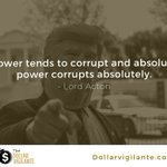 "Image for the Tweet beginning: ""Power tends to corrupt and"