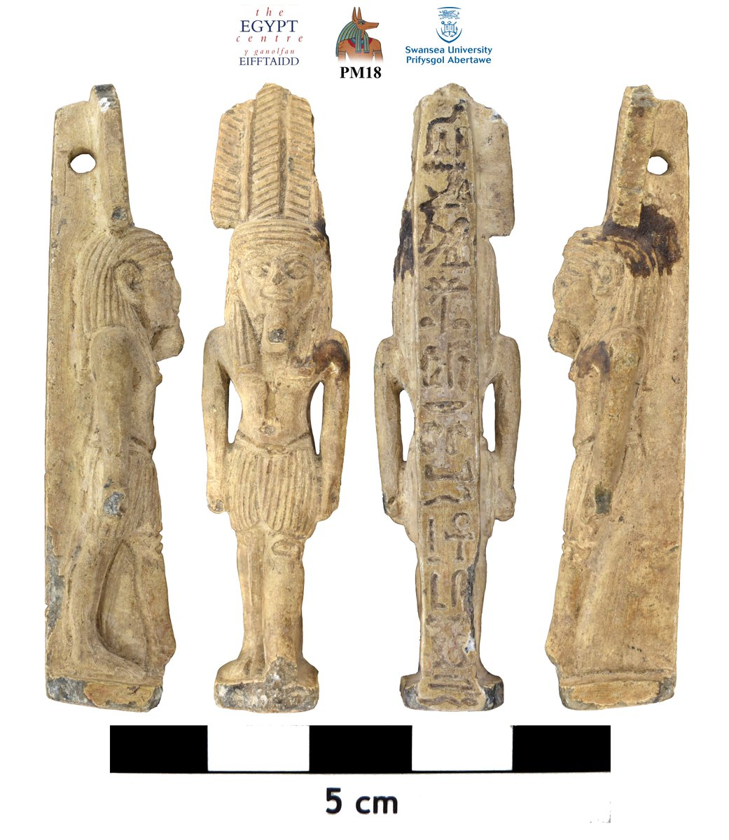 As frustrating as it is to photograph amulets given their small size, focus stacking helps to produce beautifully detailed images. Here are four examples in @TheEgyptCentre collection, including a rare one of Sopdu-Hor (PM18), Nephthys (LIH11), Min (PM16), and Mut (PM20). https://t.co/LfSTRSezOC