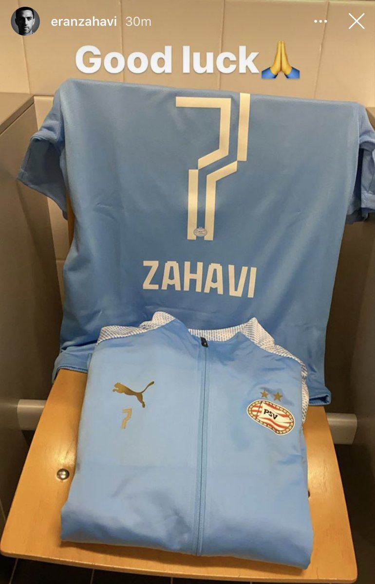 Israeli International Eran Zahavi is ready for action with PSV today! https://t.co/wBthInluR3