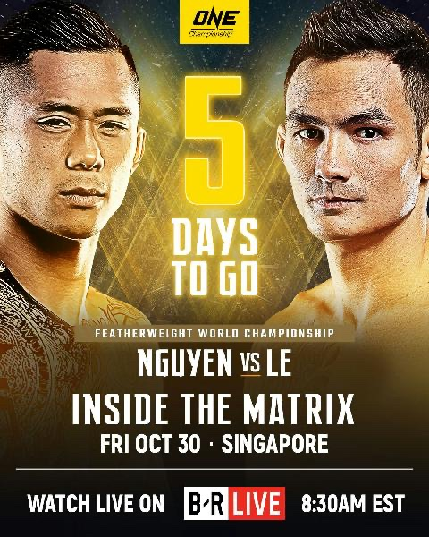 5 more days and we are back in @ONEChampionship!  @MartinNguyenMMA and I are ready to defend titles. https://t.co/jjxn9vic4F